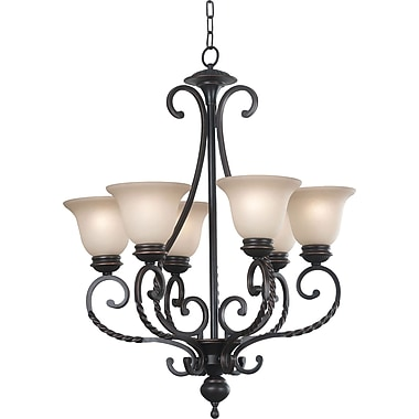 Kenroy Home Oliver 6 Light Chandelier, Oil Rubbed Bronze Finish