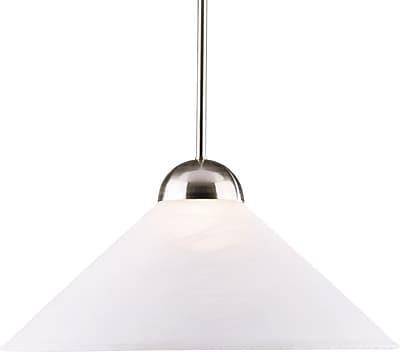 Kenroy Home Madison 1 Light Convertible Pendant, Brushed Steel Finish
