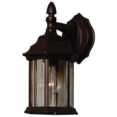 Kenroy Home Custom Fit 1 Light Wall Lantern, Black Finish