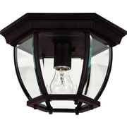 Kenroy Home Dural 1 Light Flush Mount, Black Finish