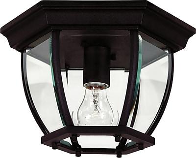 Kenroy Home Dural 1 Light Flush Mount, Black Finish