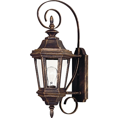 Kenroy Home Estate 1 Light Small Wall Lantern, Antique Patina Finish