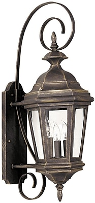 Kenroy Home Estate Medium Wall Lantern, Antique Patina Finish