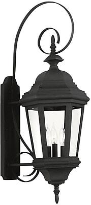 Kenroy Home Estate Large Wall Lantern, Black Finish