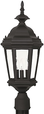 Kenroy Home Estate Post Lantern, Black Finish