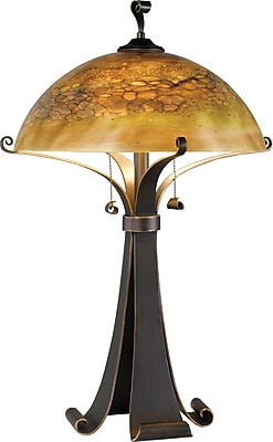 Kenroy Home Santa Fe Table Lamp, Chocolate Caramel Finish