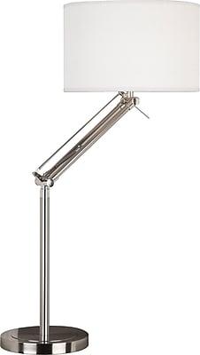 Kenroy Home Hydra Adjustable Table Lamp, Brushed Steel Finish