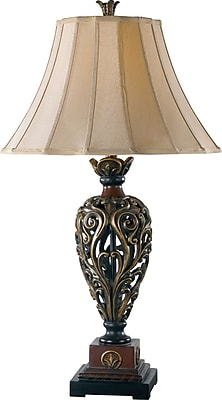 Kenroy Home Iron Lace Table Lamp, Golden Ruby Finish
