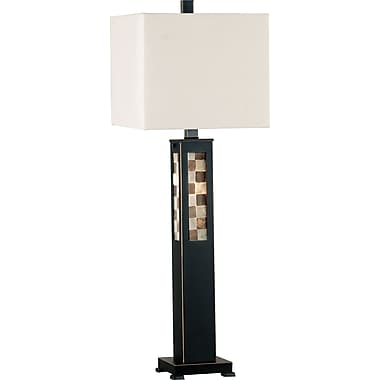 Kenroy Home Windowpane Table Lamp, Oil Rubbed Bronze Finish