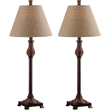 Kenroy Home Santiago Buffet Lamp, Natural Reed Finish