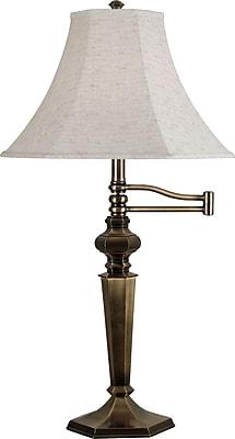 Kenroy Home Mackinley Swing Arm Table Lamp, Georgetown Bronze Finish