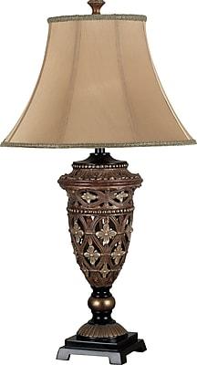 Kenroy Home Sofie Table Lamp, Golden Bronze Finish