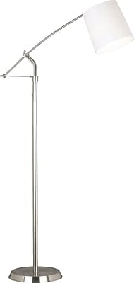 Kenroy Home Reeler Floor Lamp, Brushed Steel Finish