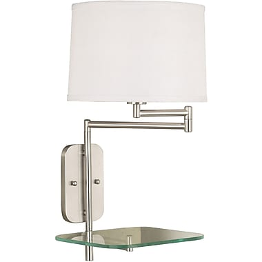 Kenroy Home Tabula Wall Swing Arm Lamp, Brushed Steel Finish