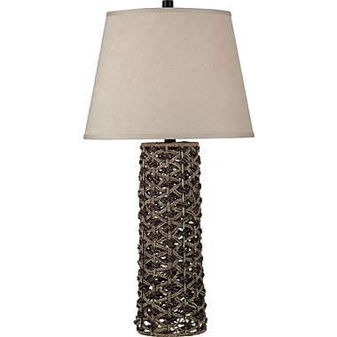 Kenroy Home Jakarta Table Lamp, Light and Dark Rope Finish