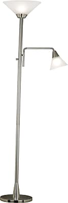 Kenroy Home Rush Torchiere, Brushed Steel Finish