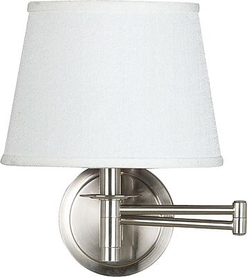 Kenroy Home Sheppard Wall Swing Arm Lamp, Brushed Steel Finish