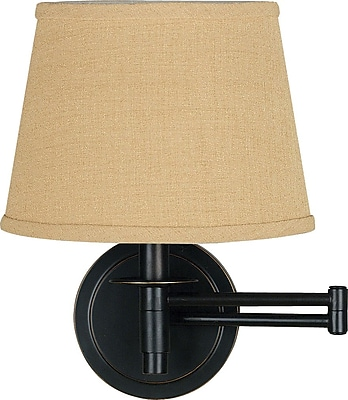 Kenroy Home Sheppard 1 Light Wall Swing Arm, Oil Rubbed Bronze Finish