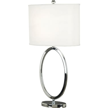 Kenroy Home Oke Table Lamp, Chrome Finish