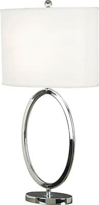 Kenroy Home Oke Table Lamp, Chrome Finish