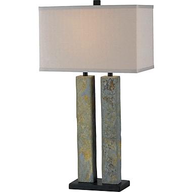 Kenroy Home Barre Table Lamp, Natural Slate Finish