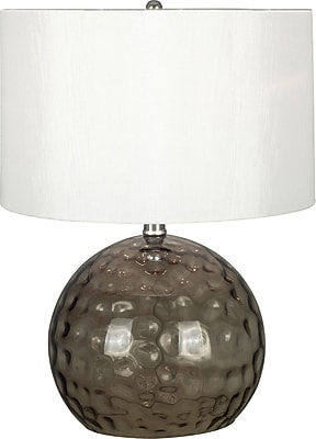 Kenroy Home Dalton Table Lamp, Smoked Glass Finish