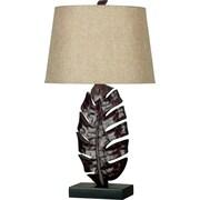 Kenroy Home Frond Table Lamp, Mottled Bronze Finish