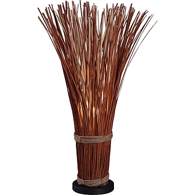Kenroy Home Sheaf Table Lamp, Natural Reed Finish
