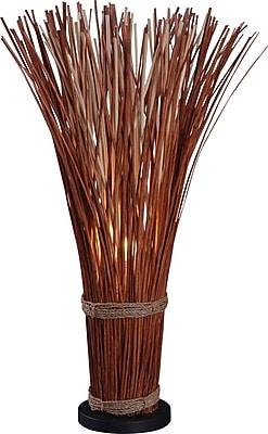Kenroy Home Sheaf Table Lamp, Natural Reed Finish