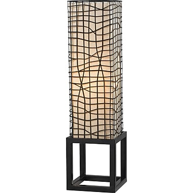 Kenroy Home Fortress Table Lamp, Bronze Finish