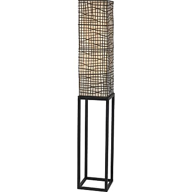 Kenroy Home Fortress Floor Lamp, Bronze Finish