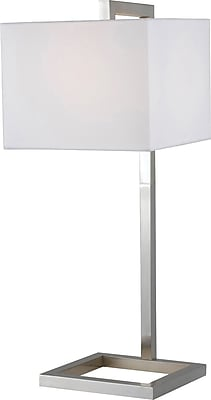 Kenroy Home 4 Square Table Lamp, Brushed Steel Finish