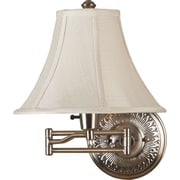 Kenroy Home Amherst Wall Swing Arm Lamp, Bronzed Brass Finish