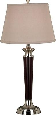 Kenroy Home Hayden Table Lamp, Tobacco Brushed Steel Finish