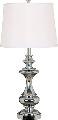 Kenroy Home Stratton Table Lamp, Chrome Finish