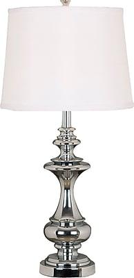 Kenroy Home Stratton Table Lamp, Chrome Finish
