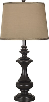Kenroy Home Stratton Table Lamp, Oil Rubbed Glass Finish
