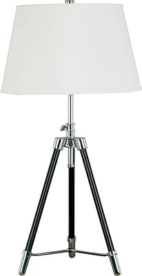 Kenroy Home Surveyor Table Lamp, Oil Rubbed Bronze Finish with Chrome Accents