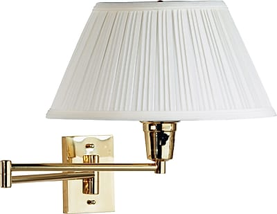 Kenroy Home Element Wall Swing Arm Lamp, Polished Brass Finish