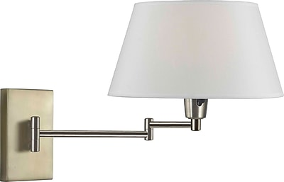 Kenroy Home Simplicity Wall Swing Arm Lamp, Vintage Brass Finish
