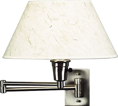 Kenroy Home Simplicity Wall Swing Arm Lamp, Brushed Steel Finish