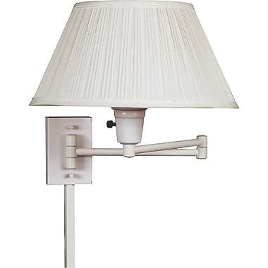 Kenroy Home Simplicity Wall Swing Arm Lamp, White Finish