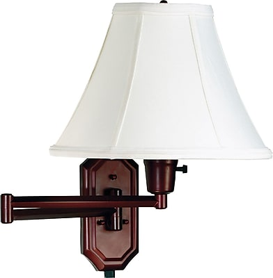 Kenroy Home Nathaniel Wall Swing Arm Lamp, Bronze Finish