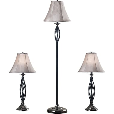 Kenroy Home Sperry Table and Floor Lamp Set, Bronze Finish
