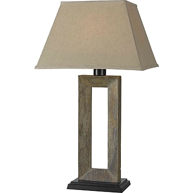 Kenroy Home Egress Outdoor Table Lamp, Natural Slate Finish