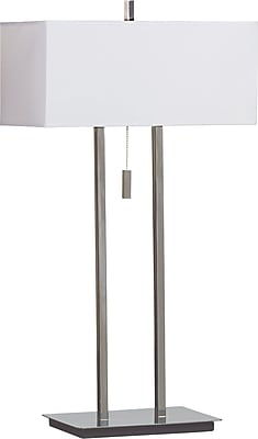Kenroy Home Emilio Table Lamp, Chrome Finish
