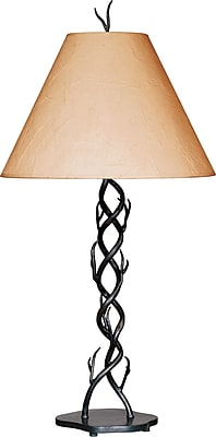 Kenroy Home Twigs Table Lamp with Crinkle Paper Shade, Bronze Finish