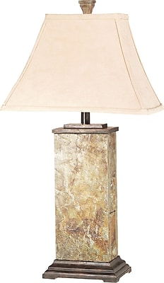 Kenroy Home Bennington Table Lamp, Natural Slate Finish