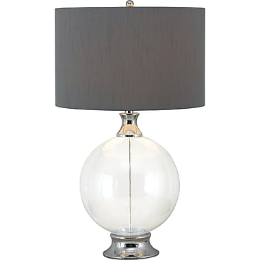 Kenroy Home Celestial Table Lamp, Glass Finish with Chrome Accents