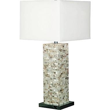 Kenroy Home Pearl Table Lamp, Mother of Pearl Finish